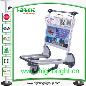 Aluminum Hand Brake Airport Luggage Cart pictures & photos