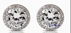 White Cubic Zirconia Stud Earrings (E8907) pictures & photos