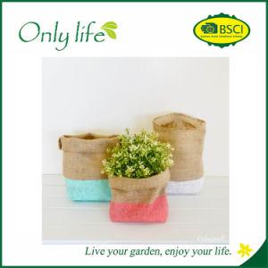 Onlylife Eco-Friendly Fashion Design Jute Flower Pot/Planter pictures & photos
