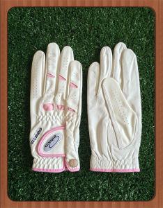 Women Cabretta Soft Golf Glove with Custom Logo