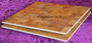 Brazilian Teak Crossing Pattern Wooden Parquet Flooring