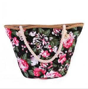 High-Quality Canvas Flower Handbag Large Bag Trend Canvas Shoulder Bag Shoulder Bag pictures & photos