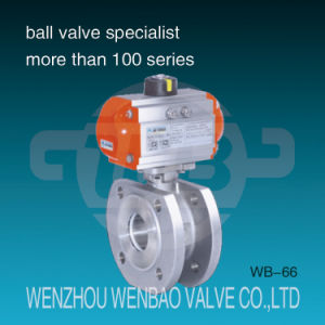 Pneumatic Actuated Italy Type Wafer Stainless Steel CF8 Ball Valve pictures & photos