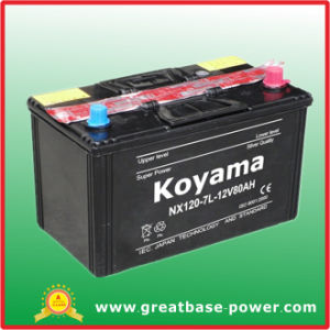 Nx120-7L (12V80AH) Japanese Vehicle SMF Battery pictures & photos