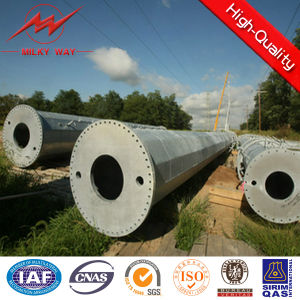 69 Kv Steel Galvanized Pipe Pole with Double Circuit pictures & photos
