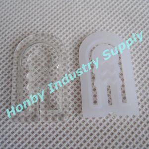 Garment Packaging White & Clear U Shape Plastic Shirt Clip