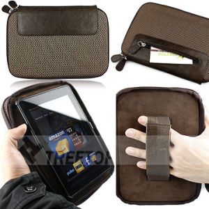 Oxford & Genuine Leather Case for Amazon Kindle Fire Leather Bag (KDOXFOBR57)