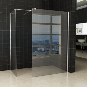 Easy Clean Chrome Frame Bath Glass Shower Screen Side Panel pictures & photos