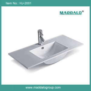 European Thin Edge Bathroom Furniture Wash Basin (HJ-2001)