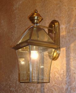 Pw-19302 Copper Wall Lamp with Glass Decorative pictures & photos