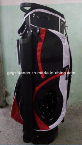 Poly and PU Fashion Leather Golf Cart Bags Black White Golden pictures & photos