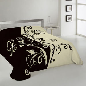 100% Polyester Raschel Mink Blanket pictures & photos