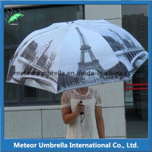 Promotion Brand Gift 2 Fold Big Golf Heat Transfer Printing Folding Umbrella