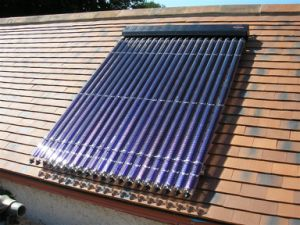 Rooftop High Pressure 70mm Solar Collector System pictures & photos