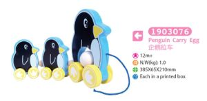 Wooden Penguin Pull and Push Toy Wooden Pull Toy for Kids pictures & photos