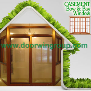 America Style Solid Oak Wood Window with Grill Design, Wood Trim & Architraves for Solid Wood Aluminum Casement Window pictures & photos