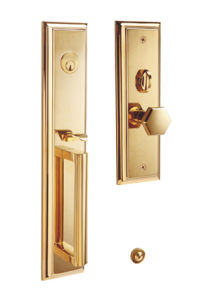 Brass Villa Entrance Door Lock with Gold Plated Finish pictures & photos