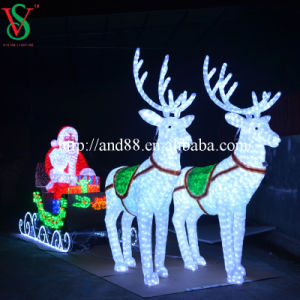 LED Acrylic Reindeer Sleigh pictures & photos