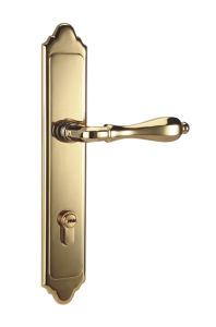 PVD Finish Solid Brass Door Handle Lock pictures & photos