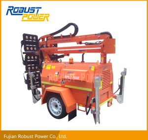 Four Folded Heavy Duty Trailer Hydraulic High Mast DC LED Light Tower pictures & photos