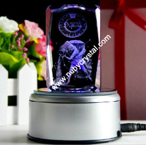 Zodiac Sign Laser Engraved Blocks with LED Base/Aquarius pictures & photos