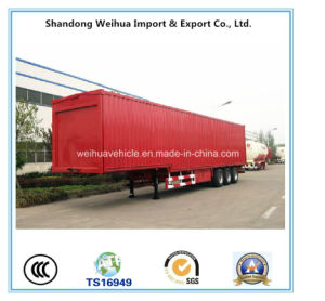 Popular Stake Truck Semi Trailer with 3 Axles From Supplier pictures & photos