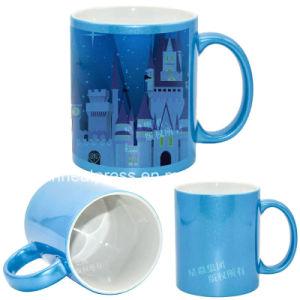 Ceramic Photo Mug Blue Color Fluorescence Mug pictures & photos