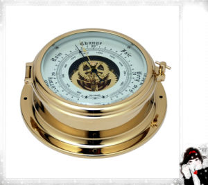 Yacht Barometer with Thermometer Opening Center Window Dial 180mm pictures & photos