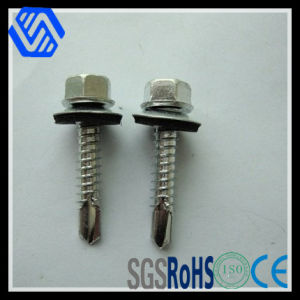 Carbon Steel Hexagon Head Drilling Tapping Screws Zinc Plated Bolt with Collar pictures & photos