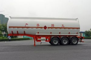 38000L SUS Chemical Liquid Tank Semi-Trailer for Fluid Delivery (HZZ9407GHY) pictures & photos