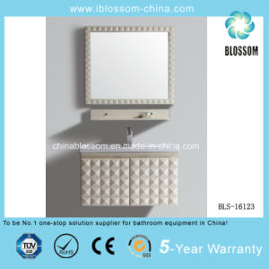 Single Wall Mounted PVC Bathroom Cabinet, Vanity with Mirror (BLS-16123) pictures & photos