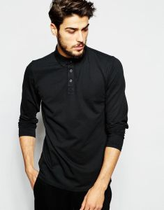 Wholesale Men Classic Long Sleeve Pique Polo Shirt pictures & photos