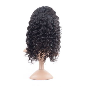 Deep Wave 180% Density Silk Front Lace Wig pictures & photos