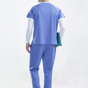 Custom New Design Pure Color Hospital Uniform pictures & photos