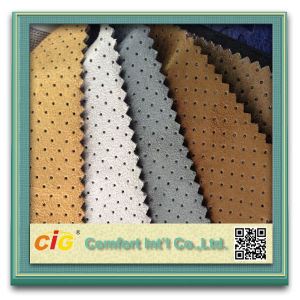Waterproof Printed Micro Synthetic Suede Fabric pictures & photos