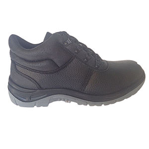 Upper Split Embossed Leather Sole PU Work Safety Footwear