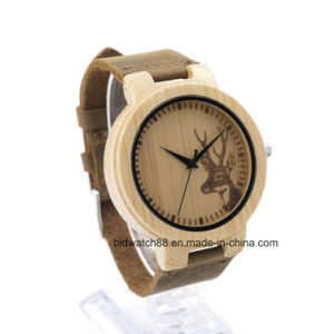 Hot Selling Unisex Bamboo Wooden Watches for Promotion Gift pictures & photos