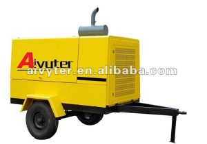 Cummins Diesel Engine Driven Portable Screw Air Compressor for Road Construction