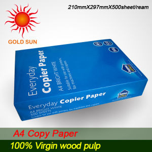 Super White 100%Wood Pulp A4 Paper 80g (CP002) pictures & photos