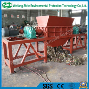 Industrial Twin Shaft Shredder for Tire/Foam/Plastic/Wood/Kitchen Waste/Municipal Waste/Scrap Metal pictures & photos