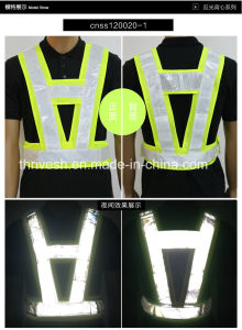 Unisex Reflective Vest Safety High Quality Visibility Night Reflection Waistcoat pictures & photos
