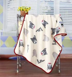 3D Embossed Cartoon Dog Flannel Baby Blanket / Baby Throw pictures & photos