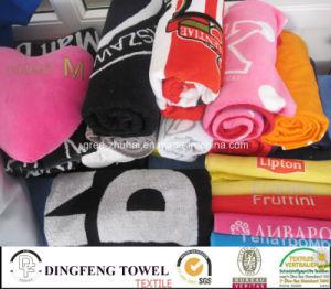 100% Cotton Velour Reactive Printed Beach Towel Df-3578 pictures & photos