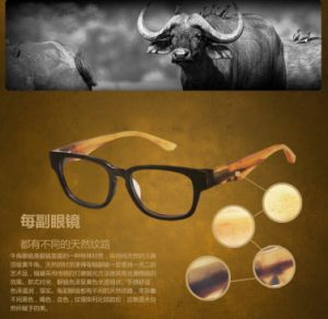 Natural Horn Trend of Retro Glasses Frame of Male and Female Big Black Box Decorative Art Frame Genuine