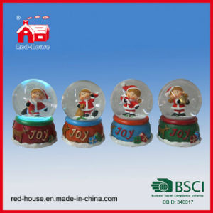 Electric Christmas Snow Globes Water Snow Globe Christmas Figure Inside