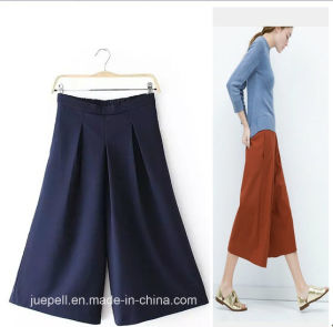 OEM High Quality Elegant Fashion Ladies Wide Leg Pants pictures & photos