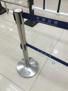 Double Belt Stainless Steel Queue Line Control Barrier