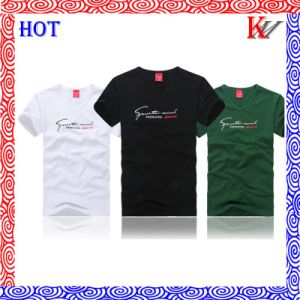 Men′s Adult Printed Cotton or Polyester Short Sleeve T-Shirt pictures & photos