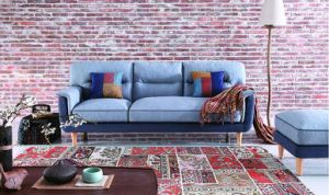 Fabric Big Couch with Colourful Cushions for Living Room Furniture pictures & photos