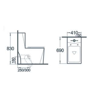 Bathroom Sanitary Wares One Piece Ceramic Toilet pictures & photos